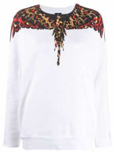 Marcelo Burlon County Of Milan Wings leopard sweatshirt - White