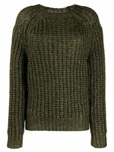 Forte Forte lamé ribbed knit sweater - Green