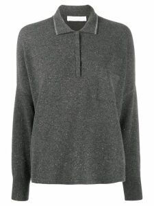 Fabiana Filippi oversized knit polo shirt - Grey