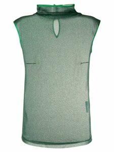 Styland glitterd high neck top - Green