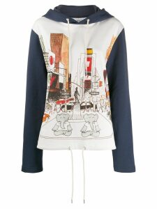 LANVIN Babar the elephant print hoodie - Blue