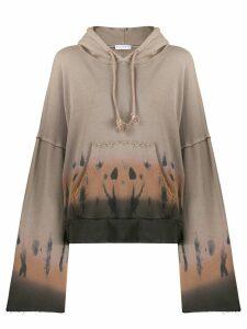 Fine Edge gradient-print hoodie - NEUTRALS