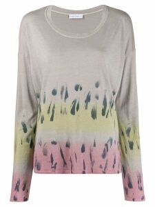 Fine Edge tie-dye knitted top - Grey