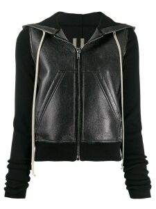 Rick Owens DRKSHDW leather effect hoodie - Black