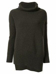 Agnona chunky-knit turtleneck jumper - Green