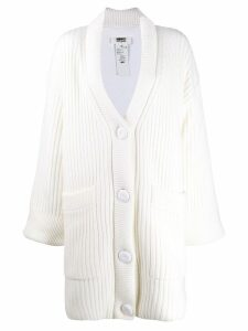 Mm6 Maison Margiela oversized chunky knit cardigan - White