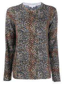 Equipment leopard print wool jumper - Black