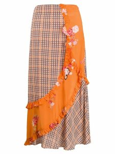 Preen Line Nevah checked skirt - NEUTRALS