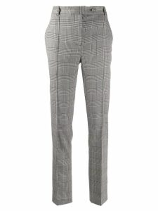 Styland high waisted checked trousers - White