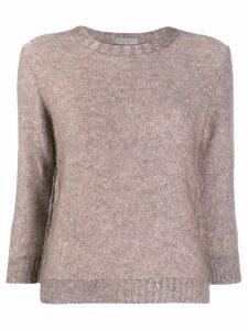 D.Exterior sequin knit jumper - PINK