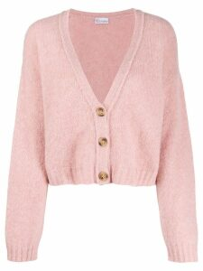 Red Valentino knitted cropped cardigan - PINK