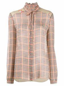 Preen Line Liana checked blouse - NEUTRALS