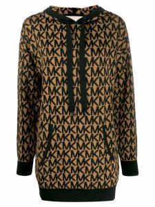 Michael Michael Kors logo print hoodie - Brown