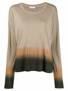 Fine Edge tie-dye long sleeve top - NEUTRALS