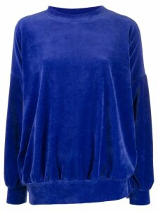 Styland velour sweatshirt - Blue