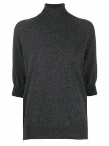 MRZ turtle-neck short sleeve top - Grey