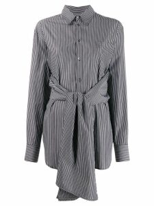 Mm6 Maison Margiela hybrid striped shirt - Black