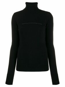 Mm6 Maison Margiela rip detail polo jumper - Black