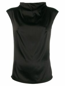Styland capped sleeve blouse - Black