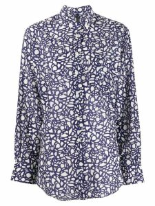 Sara Lanzi abstract pattern shirt - Blue