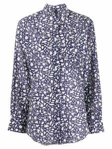 Sara Lanzi abstract pattern shirt - Blue