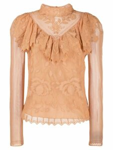 See By Chloé Victorian lace blouse - Brown
