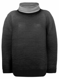 Issey Miyake loose-fit striped jumper - Black