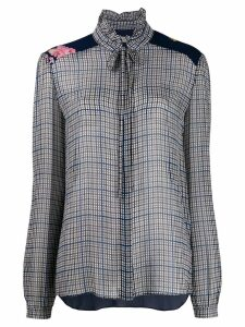 Preen Line Liana checked blouse - Blue