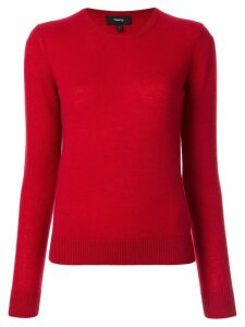 Theory round neck jumper - Red