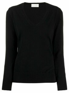 Zanone fitted v-neck jumper - Black