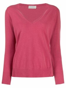 Zanone regular fit v-neck jumper - PINK
