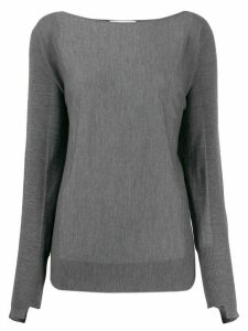 Zanone loose-fit boat neck jumper - Grey