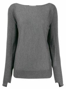 Zanone loose-fit boat neck jumper - Grey