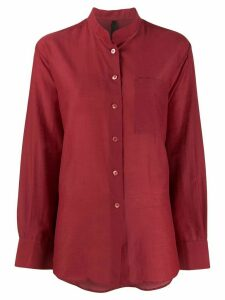 Sara Lanzi mandarin collar shirt - Red