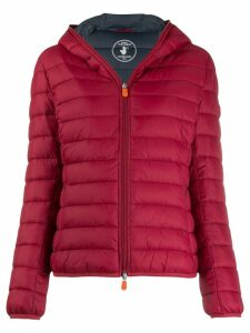 Save The Duck padded hooded jacket - Red