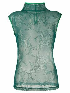 Styland high neck lace top - Green