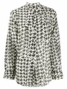 Sara Lanzi mandarin collar shirt - Grey