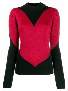 Gcds heart knitted sweater - Black
