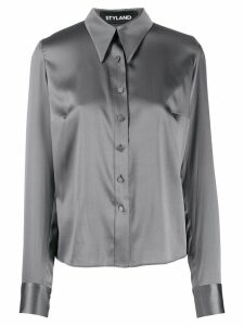 Styland satin shirt - Grey