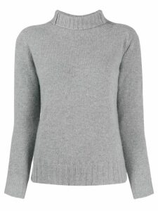 Zanone fitted roll-neck jumper - Grey