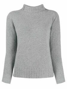Zanone fitted roll-neck jumper - Grey