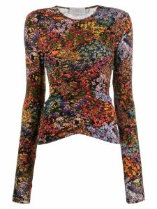 Preen By Thornton Bregazzi Norah floral top - Black