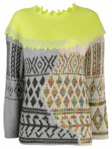 Antonio Marras mix fabric sweater - Green