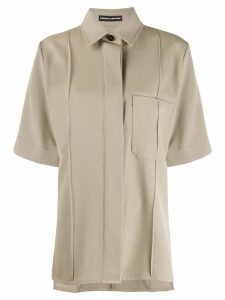 Kwaidan Editions oversized short sleeved shirt - NEUTRALS