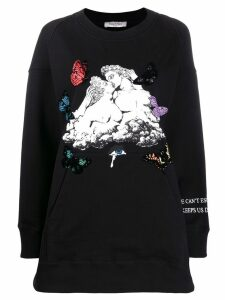 Valentino graphic print jumper - Black