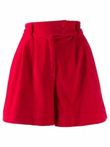 Styland flared pleated shorts