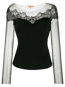 Ermanno Scervino jersey lace top - Black