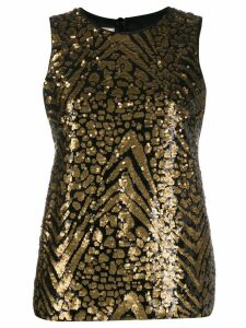 Antonio Marras sleeveless sequinned top - Black