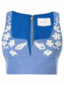 Alice McCall Pastime Paradise cropped top - Blue