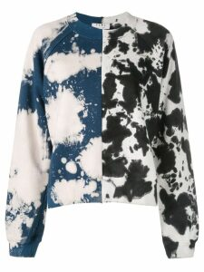 Proenza Schouler White Label PSWL Split Splatter Cropped Sweatshirt